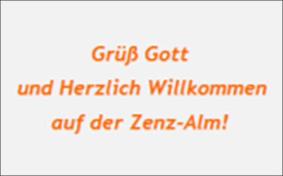 Zenz-Kaser Zenz-Alm, Winklmossalm